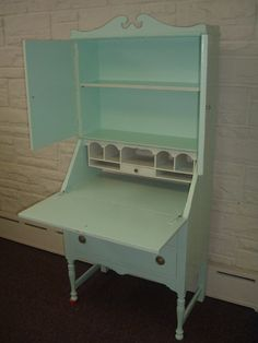 Vintage COTTAGE CHIC  Drop Lid Secretary Desk  by theriverpeddler1, $445.00