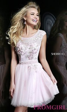 Cap Sleeve Cocktail Dress by Sherri Hill 9811 at PromGirl.com
