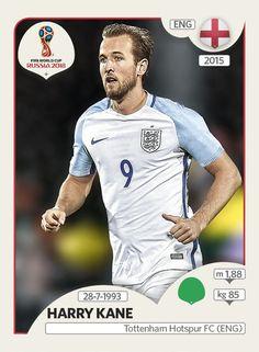 Harry Kane- Inglaterra - Panini FIFA world cup Russia 2018