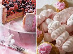 Haute Design by Sarah Klassen Pink Party Foods, Pink Foods, Pink Sweets, Cake Fillings, Pink Parties, Macaroons, Meringue, Breast Cancer, Merengue
