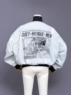 "japanesefashionarchive: ""Issey Miyake Men reversible bomber jacket, Automne-Hiver 1988-1989. """