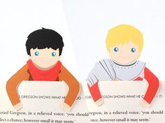 These are the cutest thing! I want one so bad! Bookmark Set Merlin Arthur by bethydesigns on Etsy, Merlin Fandom, Merlin And Arthur, Dear Santa, Bookmarks, Card Stock, Pikachu, Harry Potter, Geek Stuff, Super Cute