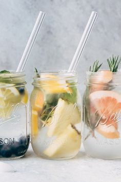 5 Infused Waters to Sip on This Summer - 5 recipes for infused water that you can enjoy all summer long! A great alternative to carbonated beverages and it's prettier to look at too! #infusedwater #water #infusedwaterrecipe   Littlespicejar.com