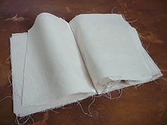 You can make a substantial cloth book without sewing or gluing by using the Slot. - You can make a substantial cloth book without sewing or gluing by using the Slot & Tab binding. Fabric Crafts, Book Projects, Sewing Projects, Fabric Journals, Fabric Books, Art Journals, Bookbinding Tutorial, Embroidery Sampler, Textile Art