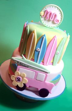 surfer girl cake - For Jessie Maybe??