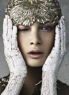 Carolyn Murphy wearing Alexander McQueen by Daniele + Lango for I-D Magazine Spring 2012