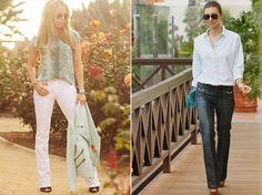As Boot Cut Jeans podem ser usadas ainda como aliadas, ajudando a disfarçar panturrilhas mais avantajadas ou ainda alongar o comprimento das pernas.