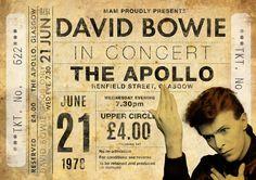 Impresión original de David Bowie: Viva en el Apolo, Glasgow de 1978. Se trata de un original diseño inspirado en las clásicas actuaciones de artistas legendarios. Este llamativo cartel estilo vintage grabado sería un gran regalo para cualquier fan de David Bowie. Celebra las 1978 actuaciones legendarios cantantes en el Apollo, en Glasgow. ESTAS IMPRESIONES PUEDEN SER PERSONALIZADAS A OTRA FECHA, ÉNTREME EN CONTACTO CON PARA MÁS DETALLES. Todas nuestras impresiones se producen los más alt...