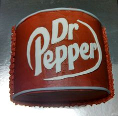Dr. Pepper cake created by Alicia @ Phat N Sassy Sweets