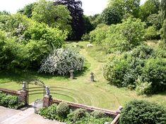 Entrance to the Wild Garden, Manor House, Upton Grey. Gertrude Jekyll garden design.