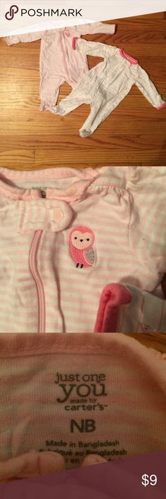2 Newborn Footed Pajamas Brand new without tags infant footed pajamas. Carter's brand! Fast shipper! Carter's Pajamas