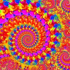 Spiral pink fractal