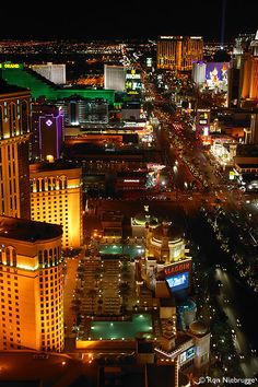 Las Vegas Strip At Night