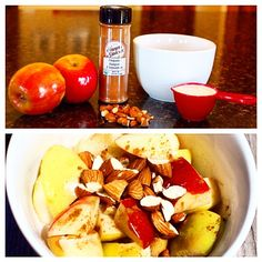 "From Puritan's Pride blogger @kerriolkjer: ""Eating Paleo and sick of eggs every morning? I can totally relate. Here is a super easy, no-egg breakfast option: Dice 2 small apples (I use Pink Lady apples, but whatever you prefer), add 1/4 cup canned coconut milk, and microwave for 1 1/2 to 2 minutes. Apples should be soft, but not mushy. Sprinkle cinnamon to taste, stir, and top with 1 Tablespoon of chopped nuts."" #puritanspride #paleo #cleaneating #snacks #primal #paleofamily #paleodiet…"