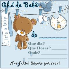Convites Prontos Chá De Bebê Para Editar E Imprimir Baby Baby