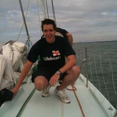 Oliver Phelps.  He and James (The Weasley twins from Harry Potter) participated in the annual Cowes Week Artemis Challenge, where celebrities ride on sailboats across the Isle of Wight in the UK to benefit their charity of choice.