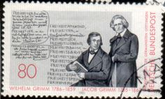 Literary Stamps: Grimm, Jacob and Wilhelm   -----    The Brothers Grimm  Jacob Grimm (January 4, 1785 – September 20, 1863)  Wilhelm Grimm (February 24, 1786 – December 16, 1859)