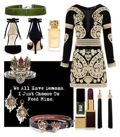 """""""Untitled #19"""" by slytherinemily on Polyvore featuring Alexander McQueen, For Love & Lemons, Tom Ford, Tory Burch, Yves Saint Laurent, Boohoo, JINsoon and Nine West"""