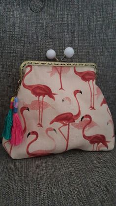"""Frame Purse """"Flamingo"""""""