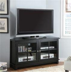 Black Veneer Top 48u0027u0027L Corner TV Console Monarch Specialty I 3540 $255.50