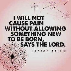 Isaiah 66:9- My favorite verse