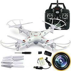 SkyCo RC Quadcopter with 2MP Video Camera4 Ch 24ghz 6gyro Remote Control Drone Equipted with Headless System Drones Quadcopters *** More info could be found at the image url.