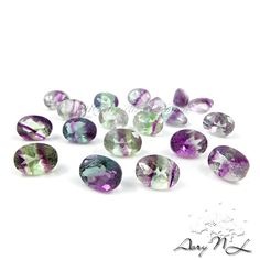 1pcs 8x6mm Natural Mulicolor Faceted Fluorite Oval Facet by AoryNL