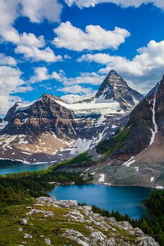 Mt Assiniboine from Nublet, Banff National Park, Alberta, Canada; photo by Putt Sakdhnagool