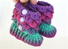 crocodile stitch booties pattern free - Bing Images