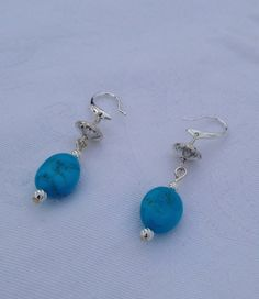 Morenci turquoise earrings by SweetgrassValley on Etsy