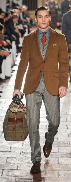 *Autumn Winter Look* by Hackett London Men's Fashion, Fashion Moda, Winter Fashion, Fashion Menswear, Sharp Dressed Man, Well Dressed Men, Looks Style, My Style, Oscar Wilde