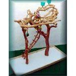 Vineyard Bridge Manzanita Play Stand for Parrots by Exotic Wood Dreams