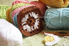 Crochet Granny Squares-used for Kids halter top I pinned