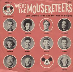 mouseketeers LPs, retro style