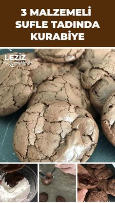 Kekse mit Soufflegeschmack im Brownie-Look mit 3 Zutaten – My Delicious Food Brownie-style souffle-flavored cookies with 3 ingredients – My Delicious Food, Brownie Recipes, Cookie Recipes, Cupcakes Amor, Homemade White Cakes, Pasta Cake, Chocolate Brownie Cookies, Chocolate Chips, Vegan Gingerbread, Biscuits