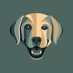 Labrador Retriever illustration by DKNG for Golden Doodle. #labrador