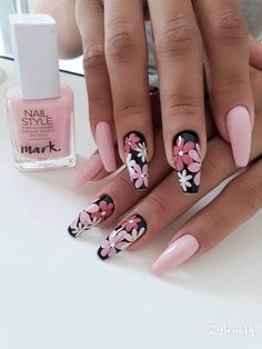 In seek out some nail styles and some ideas for your nails? Here's our set of must-try coffin acrylic nails for trendy women. Pink Nail Art, Pink Nails, My Nails, Fingernails Painted, Stylish Nails, Trendy Nails, Cute Nails, Fabulous Nails, Perfect Nails