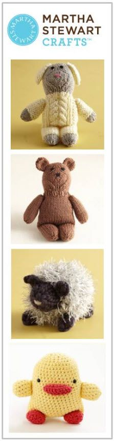 Make these adorable stuffed animals for your little one with the Martha Stewart Crafts Yarn Collection and free downloadable patterns! #marthastewartcrafts