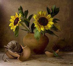 Still life. Photo by Anna Nemoy. Happy Flowers, Love Flowers, Beautiful Flowers, Sun Flowers, Sunflower Garden, Sunflower Art, Sunflower Patch, Sunflowers And Daisies, Still Life Art