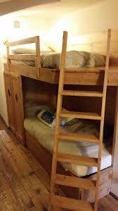 Letto a castello rustico in legno massello di pino di Svezia con ...