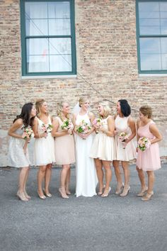 Love this lineup | Chicago Wedding at Fultons on the River from Jennifer Jackson Photography Read more - http://www.stylemepretty.com/illinois-weddings/2013/11/01/chicago-wedding-at-fultons-on-the-river-from-jennifer-jackson-photography/ -repinned from http://L2weddingphotography.com #weddingphotographyposes