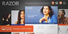 Download and review of Razor: Cutting Edge WordPress Theme, one of the best Themeforest BuddyPress themes