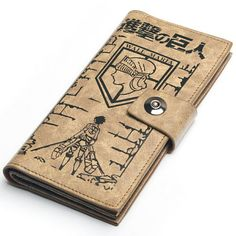 Japanese Anime Attack on Titan; Levi Rivaille Accessories Long Wallet/Purse(2)