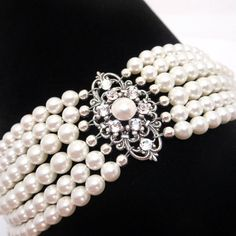Hey, I found this really awesome Etsy listing at https://www.etsy.com/listing/70891350/bridal-cuff-bracelet-pearl-bracelet
