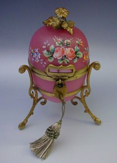 Grandest Antique French Pink Opaline Casket Hinged Box