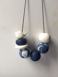 Arcilla del polímero Collar artesanal por PipFrenchDesigns en Etsy