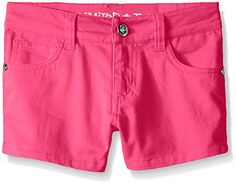 Limited Too Girls' Stretch Sateen Twill Shorts ** For more information, visit
