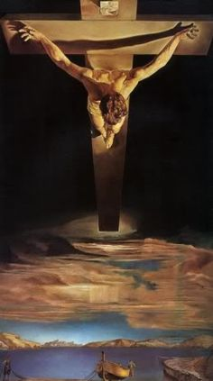 Arte para niños: Cristo de San Juan de la Cruz obra de Salvador Dali