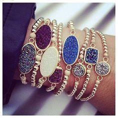 druzy bracelets.