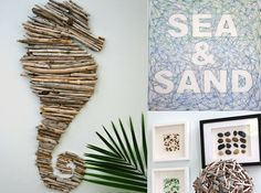 Dear Chicago House, I don't know about you but I find holiday shopping rather tedious and choosing that perfect gift is so difficult. If you are having trouble, here is a round up of DIY gift ideas that would be perfect for anyone with a coastal home...or maybe just dreaming of a place by the sea. All of these gifts are super easy to make and that home-made touch will make them all the more special. Driftwood Orb Monkey Fist Rope Ball Wooden Painted Fish Driftwood Sea Horse Framed Sea Gla...